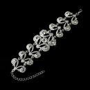 Elegance by Carbonneau B-8445-Silver-Clear Sensational Silver Clear Rhinestone Bracelet 8445