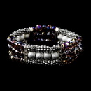 Elegance by Carbonneau B-8503-Amethyst-AB Festive Amethyst Aurora Borealis Crystal Bracelet 8503