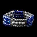 Elegance by Carbonneau B-8503-Blue-AB Festive Blue Aurora Borealis Crystal Bracelet 8503