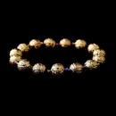 Elegance by Carbonneau B-8504-Amethyst-AB Colorful Amethyst Aurora Borealis Crystal Bracelet 8504