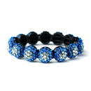 Elegance by Carbonneau B-8543-Blue Glistening Four Tone Blue Crystal Stretch Bracelet 8543