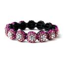 Elegance by Carbonneau B-8543-Pink Glistening Four Tone Pink Crystal Stretch Bracelet 8543