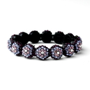 Elegance by Carbonneau B-8543-Purple Glistening Four Tone Purple Crystal Stretch Bracelet 8543