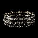 Elegance by Carbonneau B-8557 Vintage Silver Clear Stretch Bracelet 8557