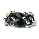 Elegance by Carbonneau B-8560-Black Dazzling Austrian Black Crystal Bracelet 8560