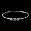Elegance by Carbonneau Silver Clear CZ Crystal Bangle Bracelet 8566