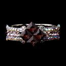 Elegance by Carbonneau B-8660-S-Amethyst Silver Large Amethyst & AB Crystal Bridal Clasp Bracelet 8660