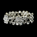 Elegance by Carbonneau B-8661-S-Clear Silver Clear Crystal Bridal Stretch Bracelet 8661
