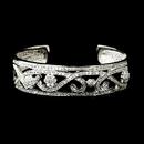 Elegance by Carbonneau B-8670-AS-Clear Antique Silver Clear CZ Crystal Bridal Bangle Bridal Bracelet 8670