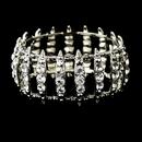 Elegance by Carbonneau B-8690-S-Clear Antique Silver Clear Crystal Bridal Stretch Cuff Bracelet 8690