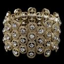 Elegance by Carbonneau B-8704-G-CL Gold Clear Rhinestone Stretch Bracelet 8704