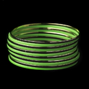 Elegance by Carbonneau B-8801-G-Green Solitary Golden Green Dawn Bangle Fashion Bracelet Set 8801