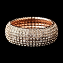 Elegance by Carbonneau B-8803-RG-Clear Rose Gold Stretch Bracelet 8803