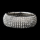 Elegance by Carbonneau B-8803-S-Clear Silver Clear Stretch Bracelet 8803