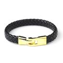 Elegance by Carbonneau B-8805-G-Black Gold Black Cuff Bracelet 8805