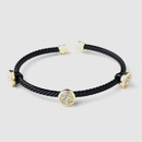 Elegance by Carbonneau B-8806-G-Black Gold Black Cuff Fashion Bracelet 8806