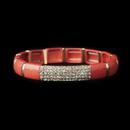 Elegance by Carbonneau B-8811-G-Coral Gold Coral Stretch Bracelet 8811