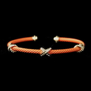 Elegance by Carbonneau B-8815-G-Coral Gold Coral Cuff Bracelet 8815