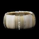 Elegance by Carbonneau B-8830-G-Cream Gold Cream & Clear Rhinestone Fashion Stretch Bracelet 8830