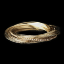 Elegance by Carbonneau B-8852-G-Clear Gold and Clear Crystal Bangle Bracelet 8852