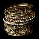 Elegance by Carbonneau B-8858-G-Brown Gold Brown Bangle Bracelet 8858