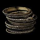 Elegance by Carbonneau B-8859-G-Black Gold Black Bangle Bracelet 8859