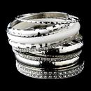Elegance by Carbonneau B-8868-S-White Silver & White Rhinestone Animal Print Stackable Bracelet Set 8868