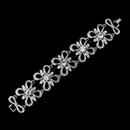 Elegance by Carbonneau B-9086-AS-Clear Antique Silver Rhodium Clear Rhinestone Floral Butterfly Bracelet 9086