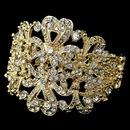 Elegance by Carbonneau B-910-LG-CL Light Gold Clear Rhinestone Heart Cuff Bracelet