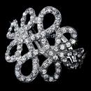 Elegance by Carbonneau B-913-Silver Vintage Silver Clear Bangle Bracelet B 913