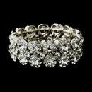Elegance by Carbonneau B-9236-AS-Clear Antique Silver Clear Crystal Stretch Cuff Bridal Bracelet 9236