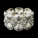 Elegance by Carbonneau B-9240-S-White Silver White Clear Crystal Rhinestone Bridal Stretch Bracelet 9240
