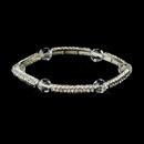 Elegance by Carbonneau B-9246-S-Clear Silver Clear Austrian Crystal Stretch Bridal Bracelet 9246