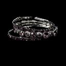 Elegance by Carbonneau B-963-Silver-Lilac Silver Lilac Multi Stretch Rhinestone Bracelet B 963
