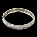 Elegance by Carbonneau B-9747-RD-CL Rhodium Pave Double Sided CZ Crystal Bangle Bracelet 607