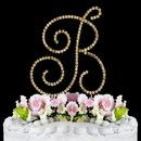 Elegance by Carbonneau B-Renaissance-Gold Renaissance ~ Swarovski Crystal Wedding Cake Topper ~ Gold Letter B