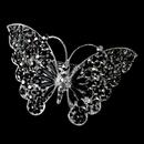 Elegance by Carbonneau Barrette-5090-AS-Black Silver Black Rhinestone Butterfly Barrette 5090 XXL