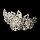 Elegance by Carbonneau Barrette-5100-Silver-Clear Barrette 5100 Silver Clear