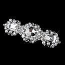 Elegance by Carbonneau Barrette-70991-AS-White Antique Silver White Pearl & Rhinestone Barrette 70991