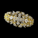 Elegance by Carbonneau barrette-8335-gold Gold Clear Barrette 8335