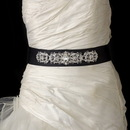Elegance by Carbonneau Vintage Rhinestone Crystal Wedding Sash Bridal Black Belt 25