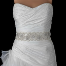 Elegance by Carbonneau Belt-294 Sheer Diamond White Beaded Sequin Rhinestone Bridal Belt 294