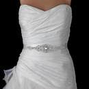 Elegance by Carbonneau Belt-312 Ivory or White Silver Rhinestone Crystal Bridal Belt 312