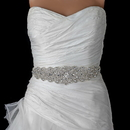 Elegance by Carbonneau Belt-315 Ivory Rhinestone Crystal Bridal Belt 315 Sash