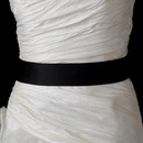 Elegance by Carbonneau Belt-41-Black * Black Bridal Plain Sash Belt 41