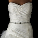 Elegance by Carbonneau Belt-44 * Pearl, Rhinestone & Bugle Beaded Bridal Sash Belt 44