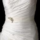 Elegance by Carbonneau Belt-Brooch-119 Wedding Sash Bridal Belt with Antique Crystal & Pearl Brooch 119