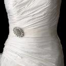 Elegance by Carbonneau Belt-Brooch-13 Wedding Sash Bridal Belt with Vintage Crystal Accent Brooch 13