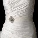 Elegance by Carbonneau Belt-Brooch-14 Wedding Sash Bridal Belt with Vintage Crystal Brooch 14