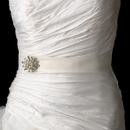 Elegance by Carbonneau Belt-Brooch-30 Belt with Pearl & Rhinestone Floral Brooch 30